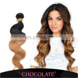 Chocolate ombre color human hair extentionT1B/27 Brazilian ombre body wave hair extension
