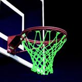 Nylon and pe 12 laps 7 section Red and white Basketball Net Luminous basketball net