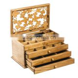 Luxury OAK wood jewelry storage boxes, finished antique design wooden jewelry decorative boxes