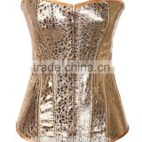 Hot selling gold color design lace up woman sexy corset,plus size corset