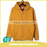 Hot selling anti-wrinkle men stylish hoodie jersey fleec jacket with 65% cotton 35% polyster
