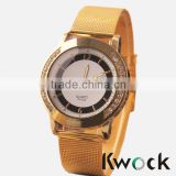 Stainless steel Watch/High Quality Rose Gold Mesh Strap Watch/ Fashion Men Women Clothing Collocation Watches
