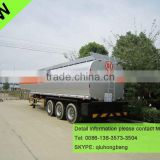 China carbon steel 40000-60000L 3 axles 4 compartments fuel tanker semi trailer 0086-13635733504