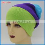 new design custom knit acrylic beanies cap