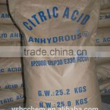 30-100 MESH BP98 Food grade Citric Acid Anhydrous                                                                         Quality Choice