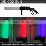 Stage led co2 gun dj co2 gun carbon dioxide jet with Led RGB battery supply for leds color change , Hand hold co2 machine