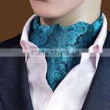 Self British Style Gentleman Polyester Silk Scarves Neck Tie Luxury Men Vintage Polka Dot Wedding Formal Cravat Ascot