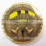 2015 newest die casting gold silver plated 3D gold eagle replica coins