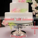 AN344 ANPHY Noble Bud Silk Mirror Surface Cake Dessert Wedding Decoration Two Sizes Metal Plate Stand Holder Display