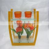 tulip shaped glass candle holder with custom made glass jars