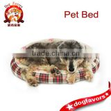 2014 hot new Nest box pattern round pad outdoor rattan dog bed wholesale