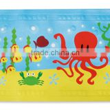 PM1810 Anti-slip Printing Cartoon PVC Bath Mat Baby Bath Mat with Suction Cups