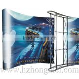 2015 China Supplier adjustable poster stand/exhibition stands material using aluminum material
