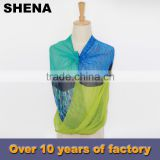 shena new fashion custom fan silk scarf manufacturer