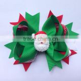 Hot-sales Christmas hair Bow Hair Clip baby Red and Green Bow Newborn hairpin kids Girl hair Accessories CB-3392