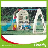 Popular Hot Selling Plastic Play Areas LIBEN Swing Set and Slide for Children Garden