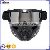 BJ-MG-022 Recommended Sportbike Full Face Mask Protective PC motorcycle Goggles Helmet Goggles Frame TPU