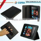 "Black Leather Folio Stand Case Cover with Hand Strap for Amazon Kindle Fire HD 7"" Tablet / Kindle Fire HD 8.9'' /Kindle Fire 2"