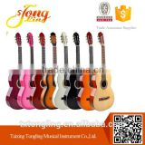Differrent color quality student beginner 38 Size Ripple Pattern Colour basswood acoustic folk guitar
