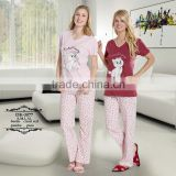 Cotton knitted printed summer pajama