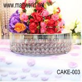 round metal cake stand surrounded with crystals for wedding decoraton& home &party(cake-003)