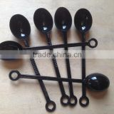 Plastic Measuring Spoons Cups Measuring Set for Baking Coffee-Black