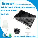 2g/3g/4g signal booster/repeater, 3g 4g boosters,cell phone amplifier 900+2100+2600 lte 4g