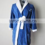 solid plain terry kid bathrobe