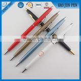 Business Gift Twist Slim Multicolor Metal Ballpoint Pen ,Logo Printing Metal Ballpoint Pen