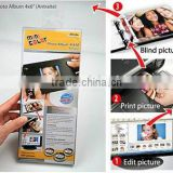 resin coated photo paper with 3 binding rings,white cover,used by free software perfect DIY photo album 4:6 (antraite)
