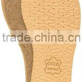 Natural Leather insoles on cork