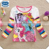 2-6y (G656) baby cartoon t shirts new 2015 kids my little pony t shirts children's long sleeve blouses