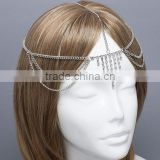 New design hot sale indian bridal head jewelry wedding handmade copper indian head jewelry