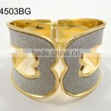 Hot selling exaggerated magnificent Luxury wide gold cuff bracelet bangles
