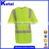 Short Sleeve Style and hi vis reflective tape compressed t shirt                                                                                                         Supplier's Choice
