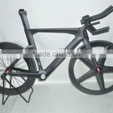 2014 newest fixed gear time trial bike frame,carbon triathlon bicycle frame,China carbon tt bike frame