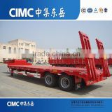 China CIMC Cheap 3 Axles LowBed Truck Trailer/Lowboy Semi Trailer/Semi Trailer Parts Used