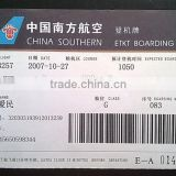 200g thermal paper cheap price flight boarding pass tickets printed