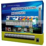 Small wall mounted pack products vending machin dispense(condom/tissue/cigarette) with coin/note/credit card payment