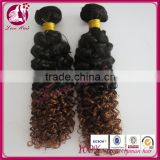 Wholesale cheap deep wave deep curl remy human hair with color 1b and #33 brazilian deep curl hair weaving