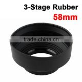 Wholesale Size 3 Stage Collapsible Rubber Lens Hood Supplier