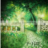 3 x 6 Meters Hand Painted Scenic Backgrounds For Photography Studio