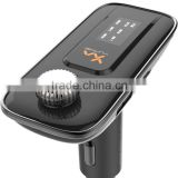 The new Bluetooth hands-free phone FM transmitter aux Bluetooth music receiver card car MP3