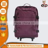 Hot Quality laggage tduffle backpack on wheels with OEM logo design from China Suppliers