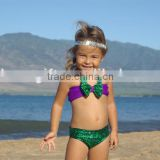 Wholesale swimmable mermaid tail bikini swimsuit swim monofins for Girl Girls bikini swimsuit mermaid bathing suit children