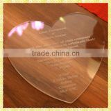 Personalized Engraved Crystal Heart Glass Wedding Card For Guest Invitation Souvenir Gifts