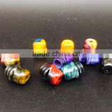 acrylic drip tips Resin Chuffs Supplier 510 Drip Tip Resin Box Mod Summit Style Top Cap Drip Tips