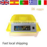 56 eggs automatic household incubators of chicken bird egg incubator for sale philippines and egg hatching machine price