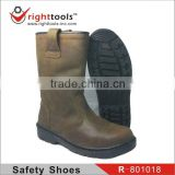 CE EN20345 ,SBP,S1P,S3,Steel toe,Anti-static high ankle brown Safety boots with genuine leather