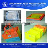 China Taizhou OEM PP material colorful portable & durable plastic foldable laundry basket mould/storage basket mold manufacturer